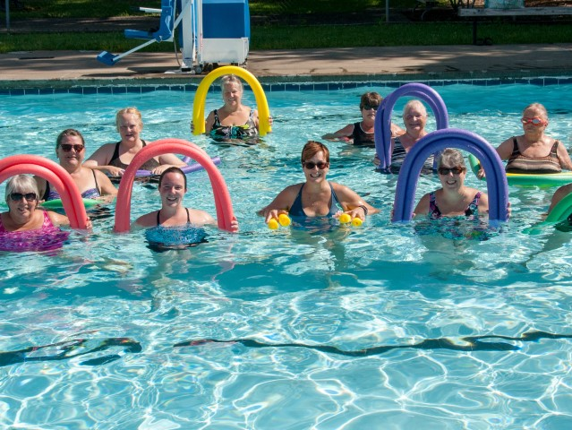 Group Photo of pool party